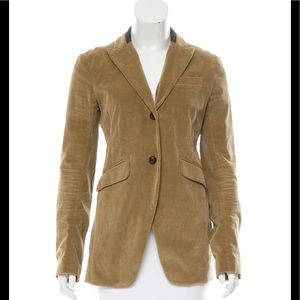 Theory blazer with leather detail 8